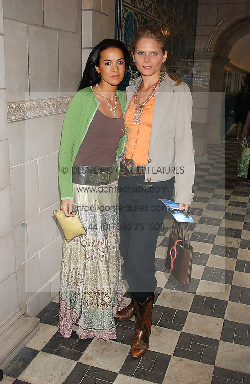 Left to right, actress AMELIA POWERS and ARABELLA ZAMOYSKA-TOBIAS  at the No Campaign's Summer Party - a celebration of the 'Non' and 'Nee' votes in the Europen referendum in France and The Netherlands held at The Peacock House, 8 Addison Road, London W14 on 5th July 2005.<br /><br />NON EXCLUSIVE - WORLD RIGHTS