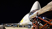 Unloading International Airfreight, Sydney International Airport, Australia
