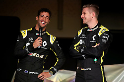 Drivers Nico Hulkenberg (right) and Daniel Ricciardo during the Renault F1 Team 2019 season launch at Whiteways Technical Centre, Oxford.
