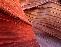 Portion of The Wave sandstone patterns, Paria Vermillion Cliffs Wilderness Utah