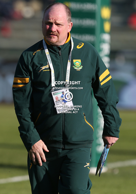 PADUA, ITALY - NOVEMBER 22: John McFarland Defence Coach of South Africa during the Castle Lager Outgoing Tour match between Italy and South African at Stadio Euganeo on November 22, 2014 in Padua, Italy. (Photo by Steve Haag/Gallo Images)