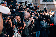 Photographers during the protest against Rome mayor Virginia Raggi at Campidoglio organized by Lega political party on October 4, 2019 in Rome, Italy. OneShot. Christian Mantuano / OneShot
