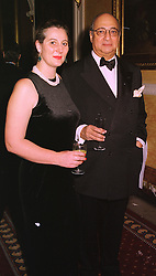 PRINCESS KATARINA OF YUGOSLAVIA and her husband MR DESMOND DE SILVA QC., at a party in London on 30th January 1999.MNP 40