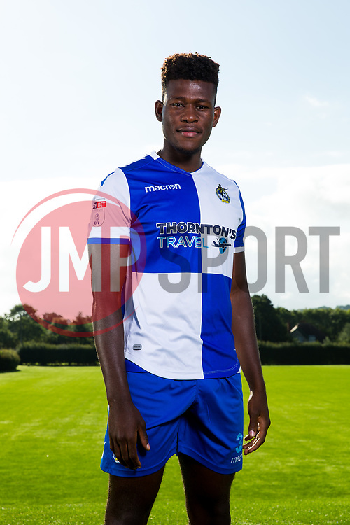 Rollin Menayese poses during a portrait session with the Bristol Rovers Development Squad - Rogan Thomson/JMP - 15/08/2017 - FOOTBALL - The Lawns Training Ground - Bristol, England.