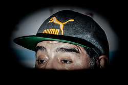 "July 4, 2017 - Naples, Italy - Former Argentine football player Diego Armando Maradona gestures during a press conference at Villa D' Angelo to present the public event ""Effetto Maradona'' where he will get the honorary citizenship after thirty years from his presentation at San Paolo stadium in Naples, Italy on July 04, 2017. (Credit Image: © Paolo Manzo/NurPhoto via ZUMA Press)"