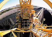 Fisheye view of Coal Stacker at Newcastle