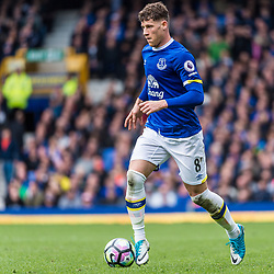 Everton midfielder Ross Barkley (8) on the ball in the Premier League match between Everton and Burnley<br /> (c) John Baguley | SportPix.org.uk
