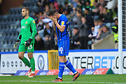 Ian Henderson holds his head in his hands after missing a simple chance during the EFL Sky Bet League 1 match between Rochdale and Doncaster Rovers at Spotland, Rochdale, England on 13 October 2018.