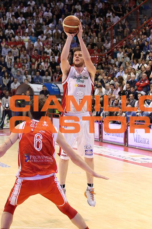 DESCRIZIONE : Campionato 2014/15 Giorgio Tesi Group Pistoia - Grissin Bon Reggio Emilia<br /> GIOCATORE : Amoroso Valerio<br /> CATEGORIA : Tiro Tre Punti<br /> SQUADRA : Giorgio Tesi Group Pistoia<br /> EVENTO : LegaBasket Serie A Beko 2014/2015<br /> GARA : Giorgio Tesi Group Pistoia - Grissin Bon Reggio Emilia<br /> DATA : 19/04/2015<br /> SPORT : Pallacanestro <br /> AUTORE : Agenzia Ciamillo-Castoria/S.D'Errico<br /> Galleria : LegaBasket Serie A Beko 2014/2015<br /> Fotonotizia : Campionato 2014/15 Giorgio Tesi Group Pistoia - Grissin Bon Reggio Emilia<br /> Predefinita :