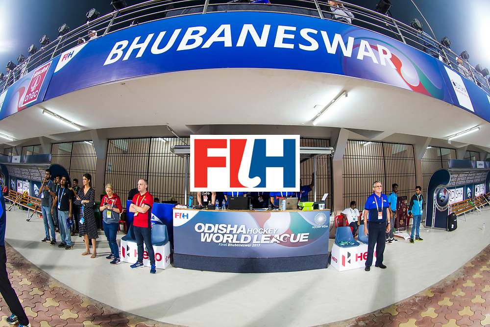 BHUBANESWAR - The Odisha Men's Hockey World League Final . Match ID 02. Australia v India (1-1). Technical table.    .WORLDSPORTPICS COPYRIGHT  KOEN SUYK