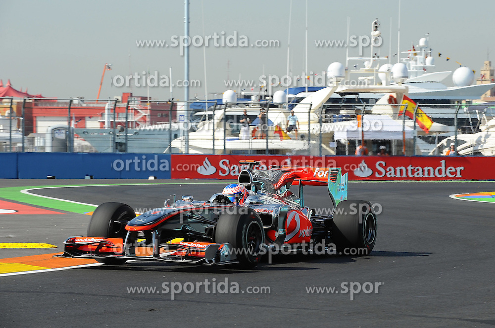 25.06.2010, Street Circuit, Valencia, ESP, Formula One Championship, Telefonica Grand Prix of Europe, im Bild Jenson Button (GBR),  McLaren F1 Team.. EXPA Pictures © 2010, PhotoCredit: EXPA/ InsideFoto/ Brantic +++ for AUT and SLO only +++ / SPORTIDA PHOTO AGENCY