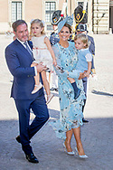 14-7-2017 STOCKHOLM - Crown Princess Victoria's birthday 40 at the Royal palace in Stockholm <br /> Attendance at Victoria Day The King Carl Gustav  , The Queen Sofia  , The Crown Princess Victoria, Prince Daniel princess Estelle and prince oscar  , Prince Carl Philip, Princess Sofia and prince Alexander , Princess Madeleine, Christopher O'Neill and princess Leonore and prince Nicolas arrive at the Te Deum Thanksgiving service in the Royal Chapel, at the Royal Palace,<br /> COPYRIGHT ROBIN UTRECHT <br /> 14-7-2017 STOCKHOLM - Kroonprinses Victoria's verjaardag 40 in het Koninklijk Paleis in Stockholm<br /> Bijwonen bij Victoria Day De koning Carl Gustav, de koningin Sofia, de kroonprinses Victoria, prins Daniel prinses Estelle en prins Oscar, prins Carl Philip, prinses Sofia en prins Alexander, prinses madeleine, christopher O'Neill en prinses Leonore en prins Nicolas aankomen Bij de dienst Te Deum Thanksgiving in de Royal Chapel, in het Royal Palace,<br /> COPYRIGHT ROBIN UTRECHT