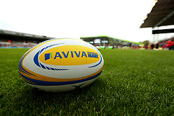 An Aviva Premiership ball at Welford Road, home of Leicester Tigers - Mandatory by-line: Robbie Stephenson/JMP - 03/09/2017 - RUGBY - Welford Road - Leicester, England - Leicester Tigers v Bath Rugby - Aviva Premiership