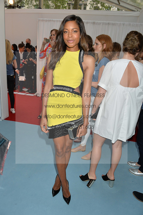NAOMIE HARRIS at the Glamour Magazine Women of the Year Awards in association with Next held in the Berkeley Square Gardens, London on 7th June 2016.