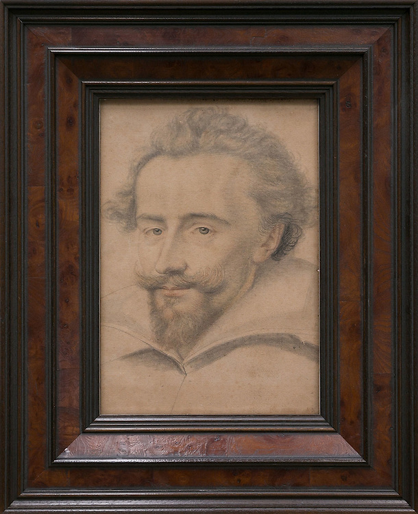 "Daniel Dumonstier<br /> 1574-1646<br /> ""Portrait of a man""<br /> Drawing on paper<br /> <br /> Wortelfineer zwarte bies 782005wf"