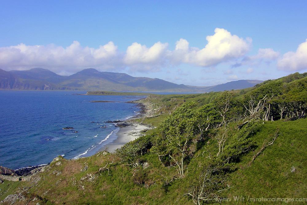 Europe, Great Britain, United Kingdom, Scotland. On the Isle of Jura looking over at the Isle of Islay, Scotland.