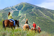 Idaho, MR, Sun Valley, children, family, horseback riding, leisure, play, x games* model releasesed