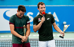 Lucas Miedler of Austria (R) and Tristan-Samuel Weissborn of Austria at Trophy ceremony after doubles final at Day 9 of ATP Challenger Zavarovalnica Sava Slovenia Open 2019, on August 17, 2019 in Sports centre, Portoroz/Portorose, Slovenia. Photo by Vid Ponikvar / Sportida