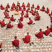 recitation of Wisdom Sutra in Dagpo Shedrup Ling, Kais, Himachal Pradesh,India.<br />