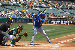 OAKLAND, CA - JULY 23:  Jose Bautista #19 of the Toronto Blue Jays at bat against the Oakland Athletics during the first inning at O.co Coliseum on July 23, 2015 in Oakland, California. The Toronto Blue Jays defeated the Oakland Athletics 5-2. (Photo by Jason O. Watson/Getty Images) *** Local Caption *** Jose Bautista