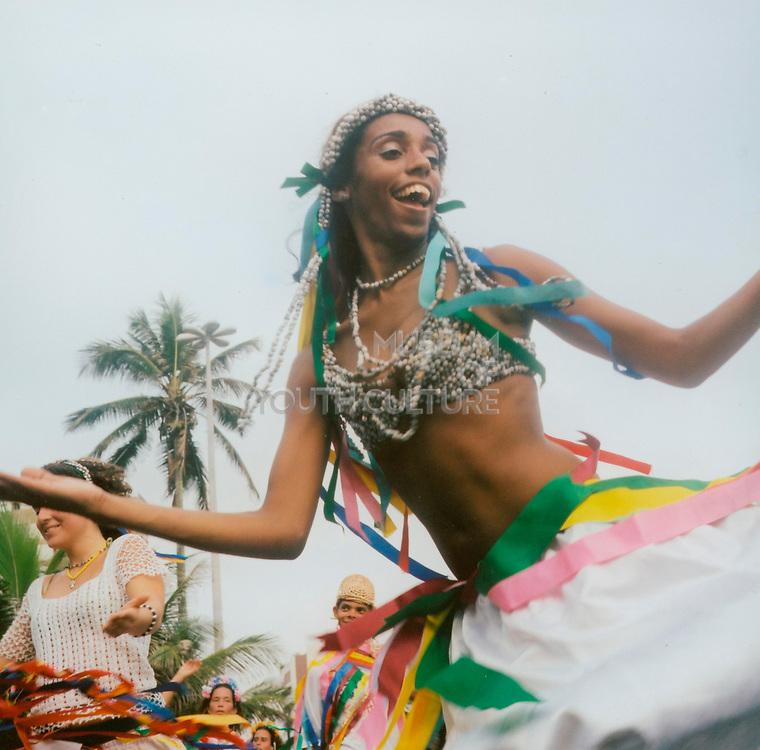 Female carnival dancer in Brazil