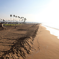 Photo of beach in Southern California. Balboa Peninsula is located in Newport Beach in Orange County California.