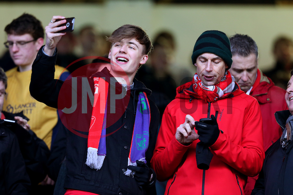 Bristol City fans - Mandatory by-line: Matt McNulty/JMP - 28/01/2017 - FOOTBALL - Turf Moor - Burnley, England - Burnley v Bristol City - Emirates FA Cup fourth round