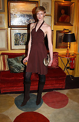 JADE PARFITT at a private dinner and presentation of Issa's Autumn-Winter 2005-2006 collection held at Annabel's, 44 Berkeley Square, London on 15th March 2005.<br />