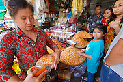 Phnom Penh, Cambodia. Central Market. Dried shrimps.