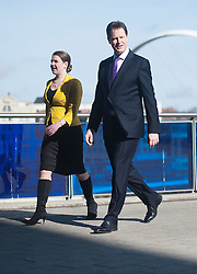 © London News Pictures. FILE PIC DATED 11/03/2012.  Gateshead, UK.  Nick Clegg arriving at Liberal Democrat spring conference with Jo Swinson MP. Jo Swinson is to face questioning over allegations that she failed to act on information about the inappropriate sexual behaviour of a senior Liberal Democrat official while she was spokesperson for women and equality. Photo credit : Ben Cawthra/LNP
