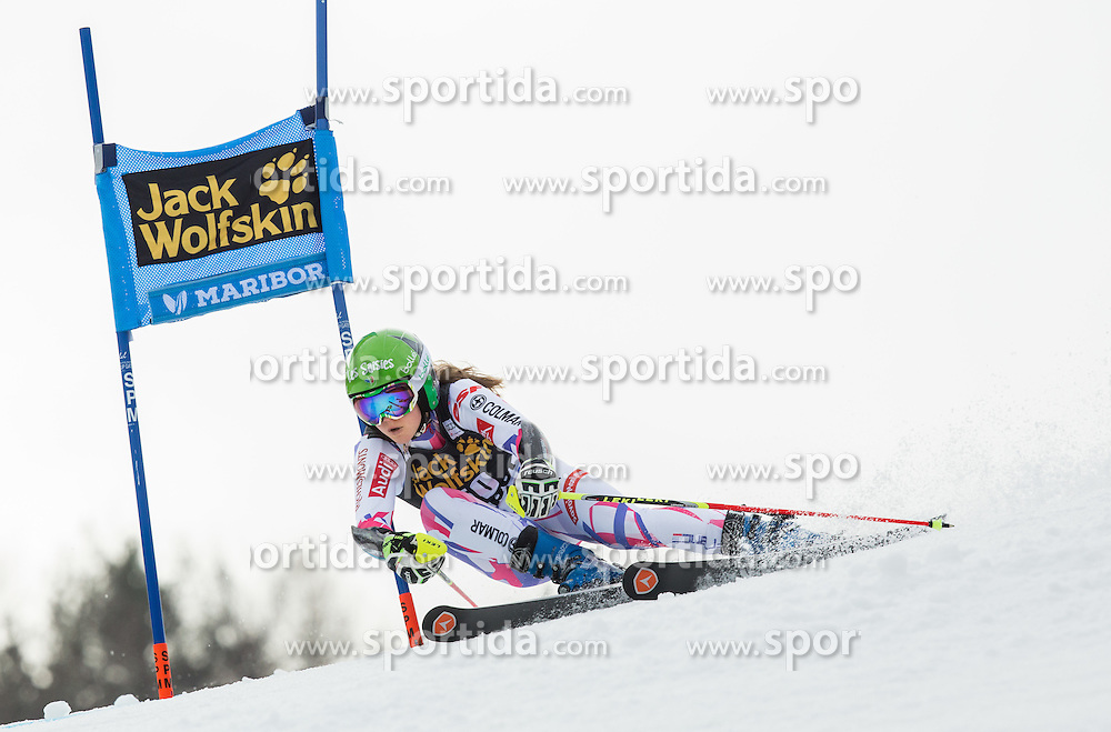 Clara Direz (FRA) competes during 7th Ladies' Giant slalom at 52nd Golden Fox - Maribor of Audi FIS Ski World Cup 2015/16, on January 30, 2016 in Pohorje, Maribor, Slovenia. Photo by Vid Ponikvar / Sportida