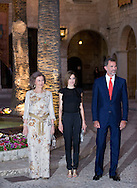 Palma de Mallorca, 05-08-2015<br /> <br /> <br /> King Felipe and Queen Letizia and Queen Sofia attended a reception at the Almudaina Palace.<br /> <br /> Royalportraits Europe/Bernard Ruebsamen
