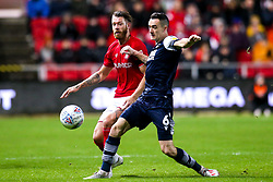 Nathan Baker of Bristol City takes on Shaun Williams of Millwall - Mandatory by-line: Robbie Stephenson/JMP - 10/12/2019 - FOOTBALL - Ashton Gate - Bristol, England - Bristol City v Millwall - Sky Bet Championship