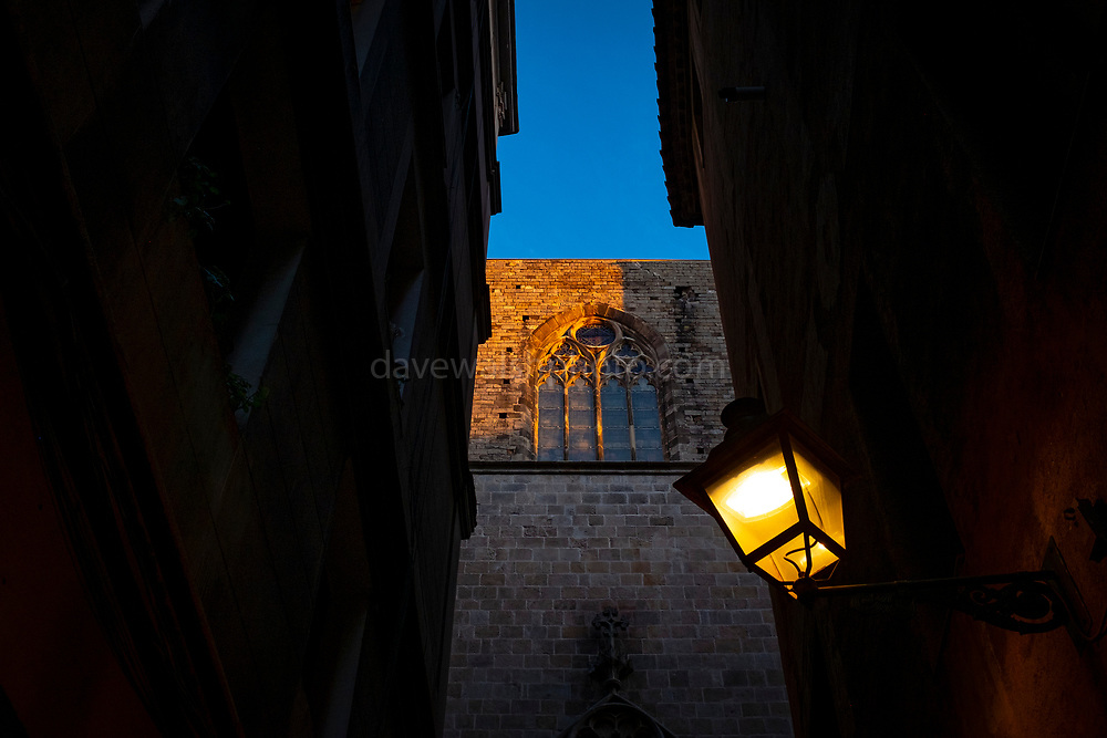 Sant Maria del Mar, a Catalan gothic church built between 1329 and 1483 in the Ribera district of Barceloa