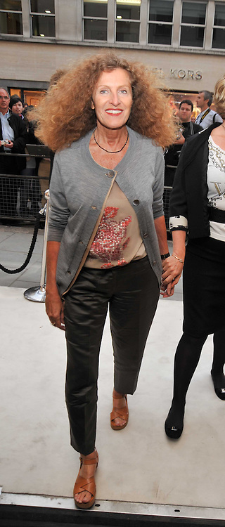 Left, NICOLE FARHI at a reception hosted by Vogue and Burberry to celebrate the launch of Fashions Night Out - held at Burberry, 21-23 Bond Street, London on 10th September 2009.