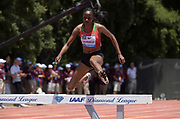 Jun 30, 2019; Stanford, CA, USA; Beatrice Chepkoech (KEN) wins the women's seeplechase in 8:55.58  during the 45th Prefontaine Classic at Cobb Track & Angell Field.