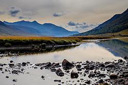The River Etive flows into Loch Etive in Glen Etive, Highlands of Scotland<br /> <br /> (c) Andrew Wilson | Edinburgh Elite media