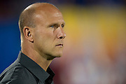 FRISCO, TX - SEPTEMBER 29:  Interim head coach Brian Bliss of the Columbus Crew looks on before kickoff against FC Dallas on September 29, 2013 at Toyota Stadium in Frisco, Texas.  (Photo by Cooper Neill/Getty Images) *** Local Caption *** Brian Bliss