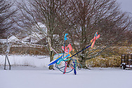 Susan and Louis Sculpture Garden in the Winter, Sagaponack, NY New York