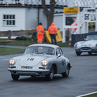 #18 Porsche 356 Super 90 (1960), confirmed driver: Gareth Burnett, Moss Trophy at Goodwood 76th Members Meeting, Goodwood Motor Circuit, on 17.03.2018