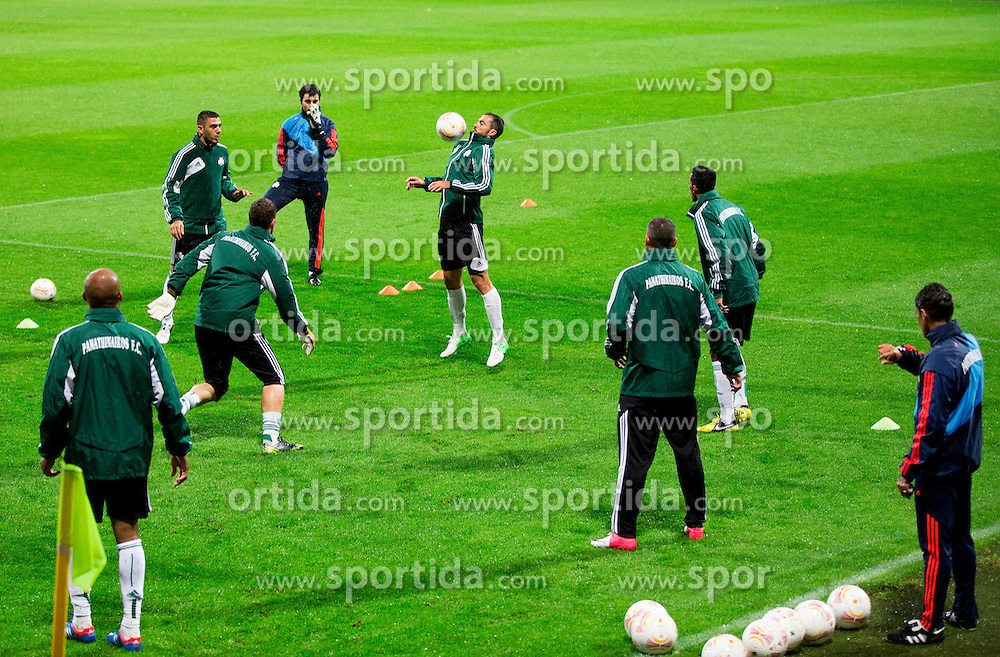 Practice session of Panathinaikos F.C. one day before UEFA Europa league match vs NK Maribor, on September 19, 2012 in Stadium Ljudski vrt, Maribor, Slovenia. (Photo By Vid Ponikvar / Sportida)