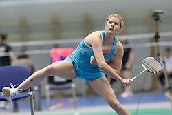 Carola Bott of Germany during match at Slovenia Open Badminton tournament 2012, on May 12, 2012, in Medvode, Slovenia. (Photo by Grega Valancic / Sportida.com)