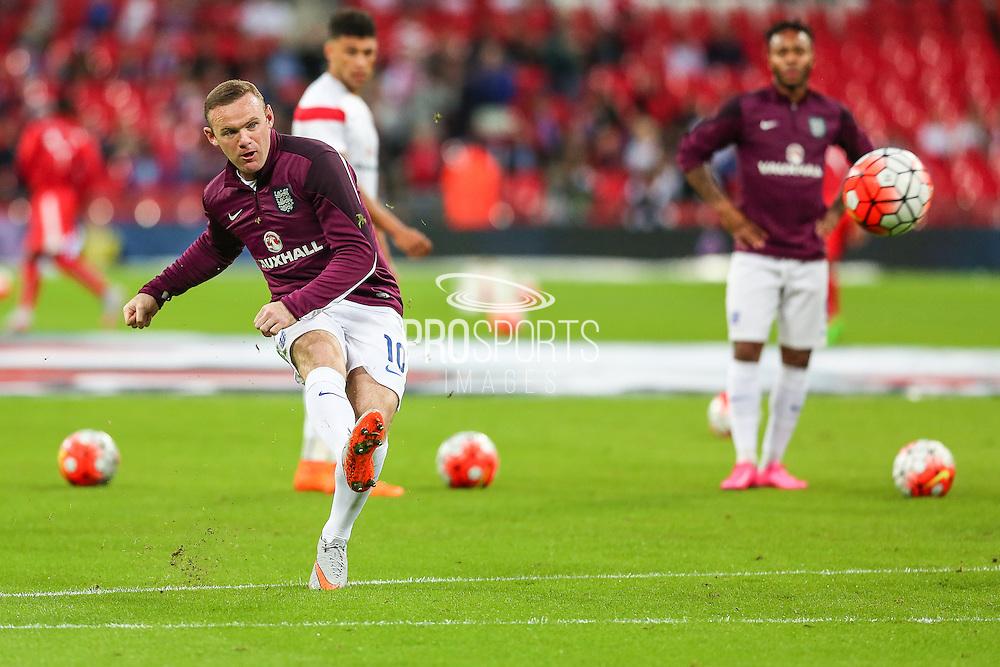 England's Wayne Rooney  before the UEFA European 2016 Qualifying match between England and Switzerland at Wembley Stadium, London, England on 8 September 2015. Photo by Shane Healey.