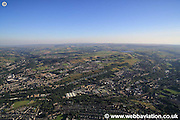 aerial photograph of Huddersfield West Yorkshire England UK