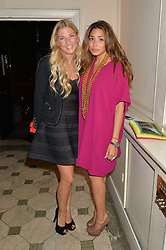 Left to right, CHARLOTTE-ELIZABETH EVANS and DANIA SHAMS at a party to celebrate opening of Galerie Kreo in London held at Il Bottaccio, Grosvenor Place, London on 17th September 2014.