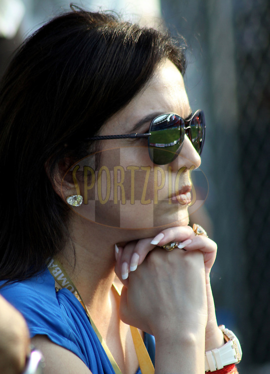 Owner of Mumbai Indians Nita Ambani during match 40 of the the Indian Premier League ( IPL ) Season 4 between the Mumbai Indians and the Kings XI Punjab held at the Wankhede Stadium, Mumbai, India on the 2nd Mayl 2011..Photo by Sandeep Shetty/BCCI/SPORTZPICS..