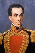 ECUADOR, QUITO, PAINTING Portrait of Simon Bolivar, attributed to Antonio Salas, in the collection of the Banco Central de Ecuador