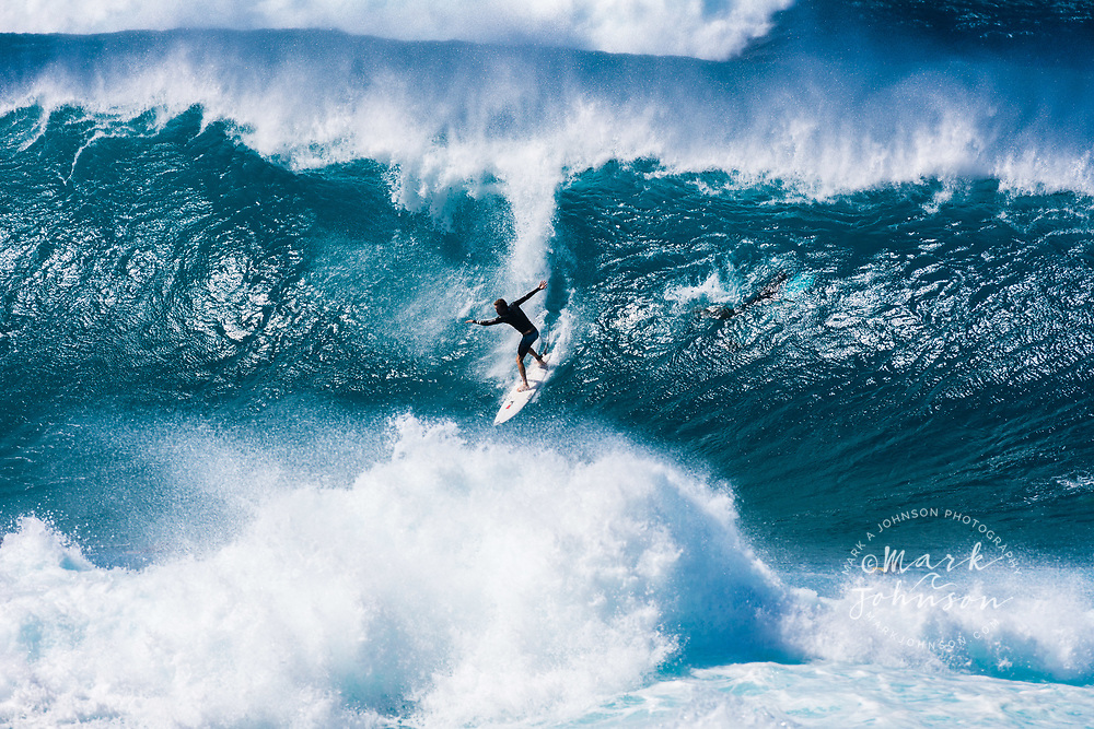 Surfing at the Banzai Pipeline, North Shore, Oahu, Hawaii