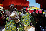 Musicians at durbar of Ashanti tribal chiefs in Accra, Ghana