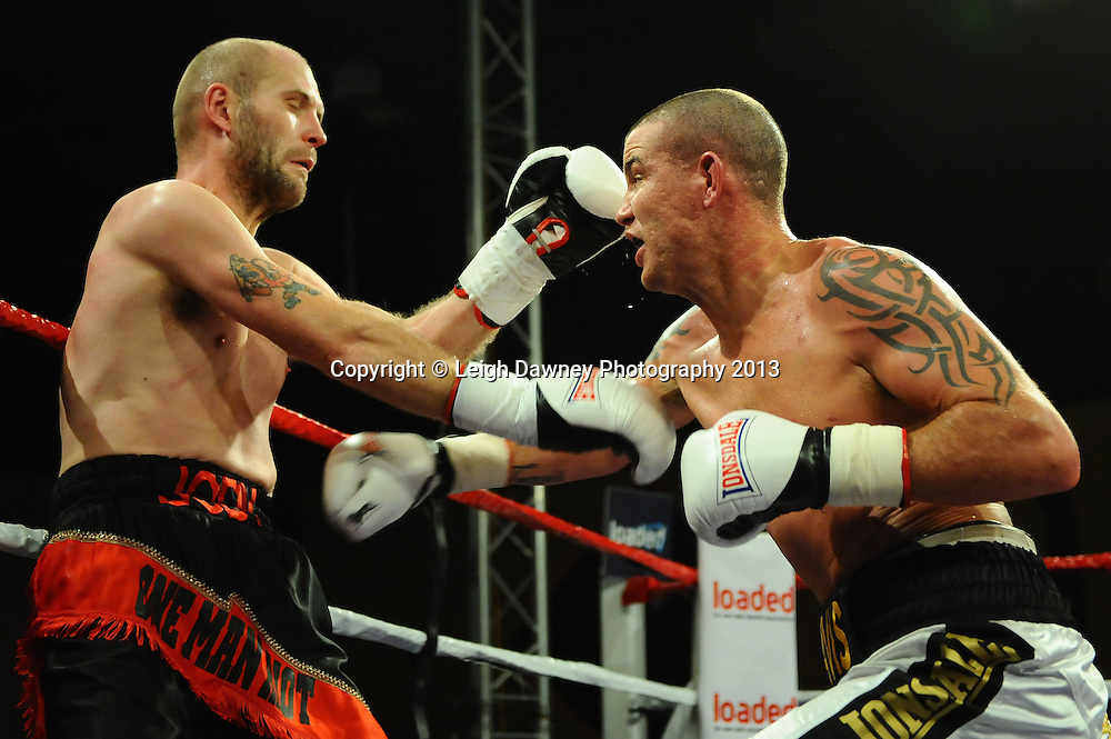 Travis Dickinson defeats Jody Meikle at Rainton Meadows Arena, Houghton Le Spring, Tyne & Wear, UK. 15th February 2013. Frank Maloney Promotions. © Leigh Dawney 2013
